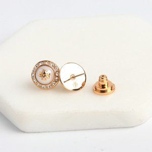 Tory Burch Golden Natalie Stud Earrings